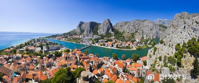 Fotomural Estándar Panorama de la ciudad Omis en Croacia - Temas