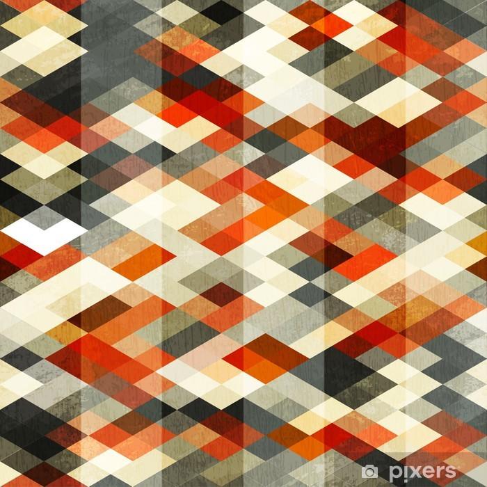 vintage red rhombus seamless pattern Pixerstick Sticker - Styles