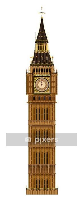 Adesivo da Parete Big Ben isolato - Monumenti
