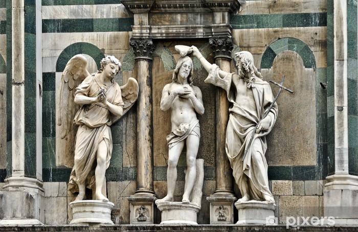 Fototapete Jesus Taufe Skulptur Florenz Baptisery Toskana Italien
