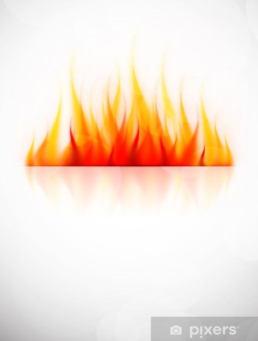 Fotomural Estándar Fondo con fuego - Señales y símbolos