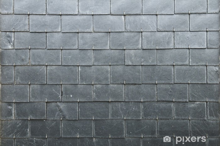 Grey Rectangles Slate Texture Wall Mural Pixers We Live To Change