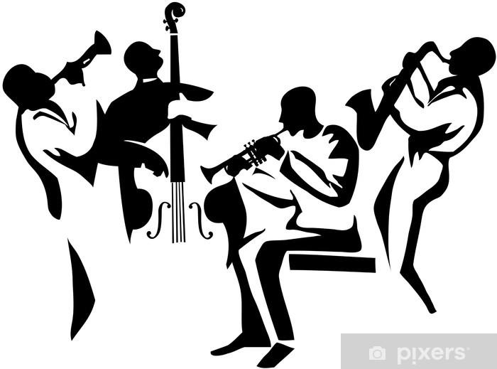 Vinyl Fotobehang Jazz kwartet - jazz