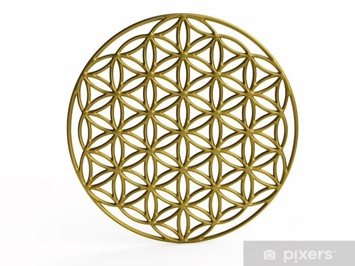 Fototapeta winylowa Sakralna Symbol Kwiat życia w 3D - Naklejki na ścianę
