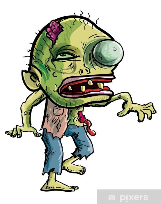 Naklejka Pixerstick Kreskówka zombie z groteskowym okiem - Religia i kultura