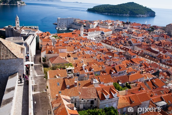 Fotomural Estándar Paredes de la ciudad De la ciudad, Dubrovnik, Croacia - Europa