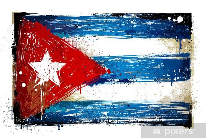Nálepka Pixerstick Výstřední Kubánská vlajka - Značky a symboly