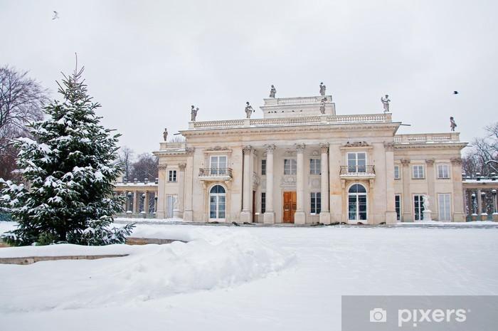 Fototapeta Winylowa łazienki Królewskie Zimą