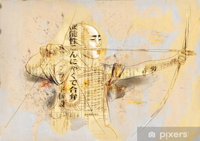Carta Da Parati Kyudo Moderna Arte Marziale Giapponese