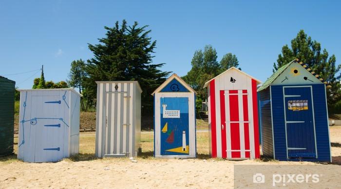 Papier peint vinyle Huttes de plage sur l'île d'Oléron en France - Vacances
