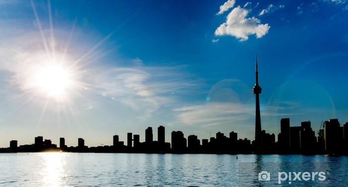 Toronto Skyline Silhouette Laptop Sticker