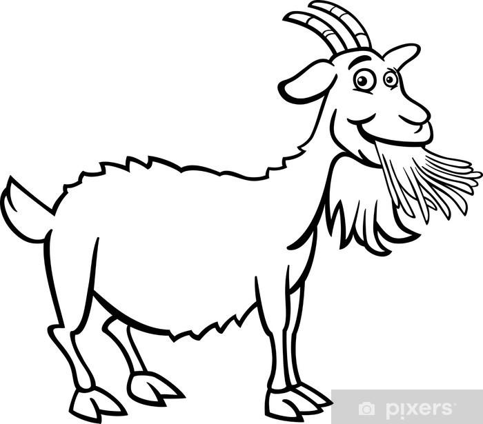 Boyama Kitabı Için çiftlik Keçi Karikatür çıkartması Pixerstick