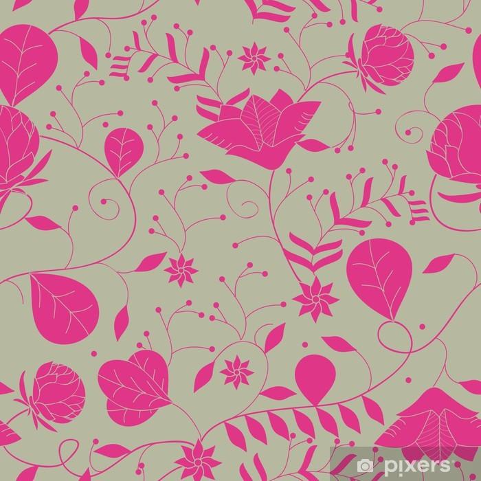 Naklejka Pixerstick Powtarzalne kwiatowy tekstury - Tła
