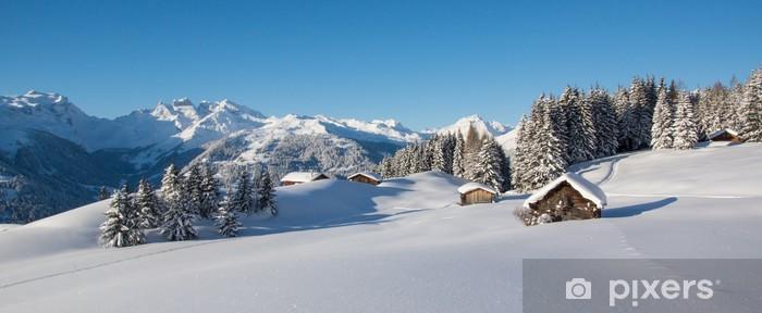 Winterpanorama in den Alpen Vinyl Wall Mural - Themes