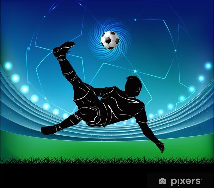 Sticker Pixerstick Joueur de football - ciseaux - Destin