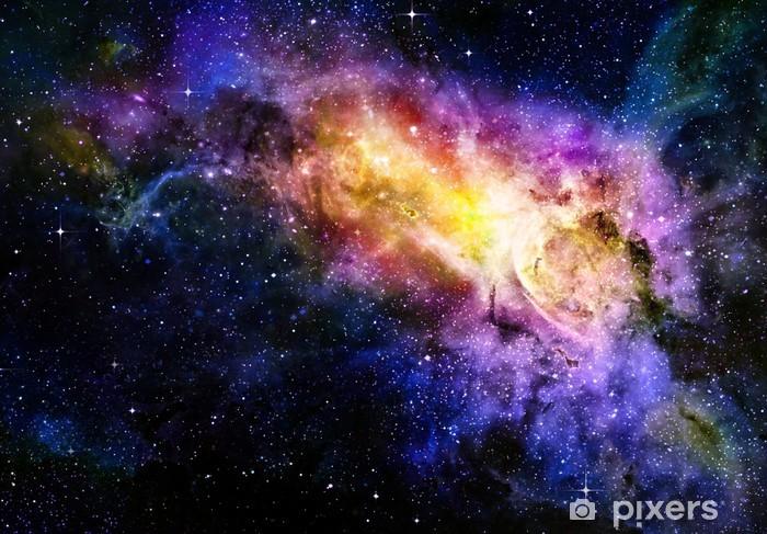 Fototapet av vinyl Starry dyp ytre plass nebual og galakse - Themes