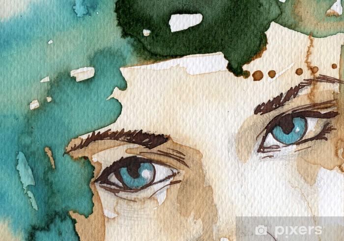 Sticker Pixerstick Illustration d'aquarelle - Thèmes