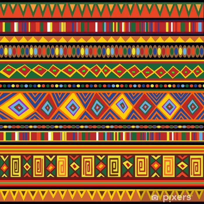 Afwasbaar Fotobehang Etnische kleurrijke patroon Africa Ethnic Art-Kleuren Art Afrika - Texturen