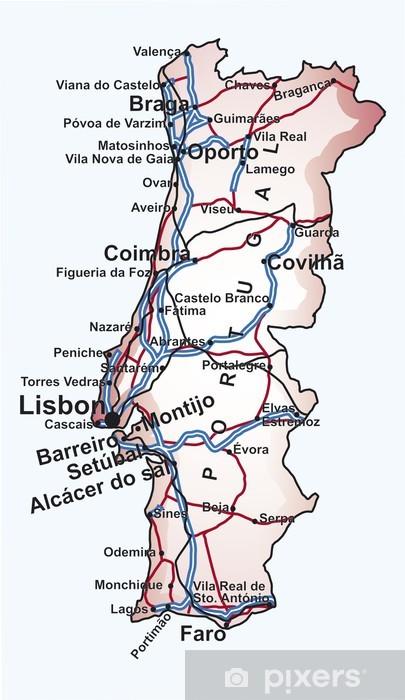 Portogallo Cartina Geografica Politica.Carta Da Parati Carta Stradale Del Portogallo Pixers Viviamo Per Il Cambiamento