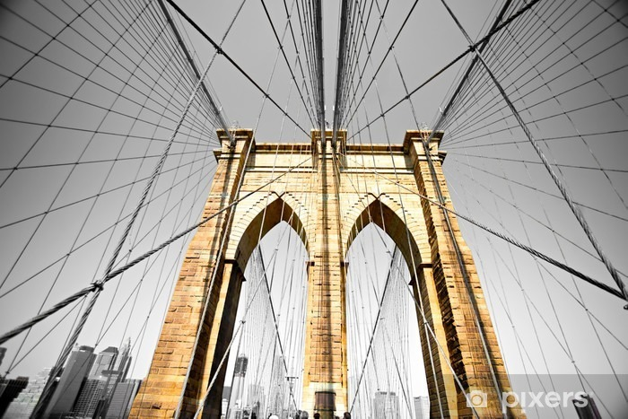 The Brooklyn bridge, New York City. USA. Vinyl Wall Mural -