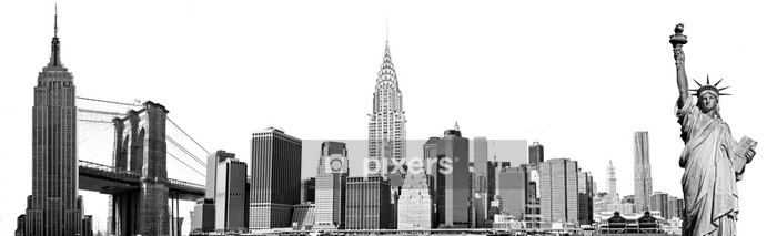 New York City Landmarks, USA. Isolated on white. Wall Decal - Wall decals