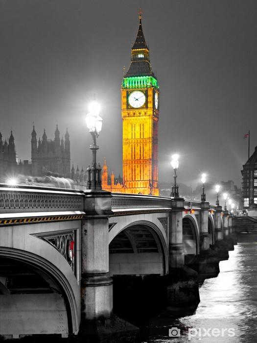 Vinilo para Nevera El Big Ben, Londres, Reino Unido. -