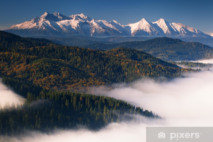 Pixerstick Aufkleber Herbstansicht des Tatra-Gebirge - Themen