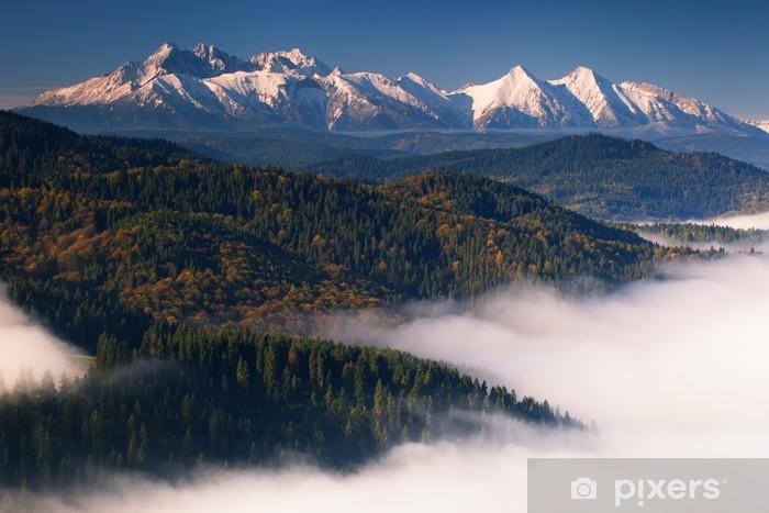 Carta da Parati in Vinile Autunno vista di Monti Tatra - Temi