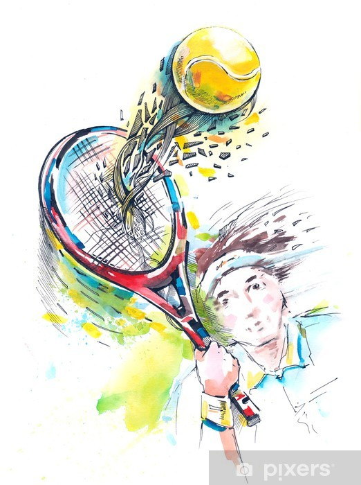 Papier peint vinyle Tennis - Tennis