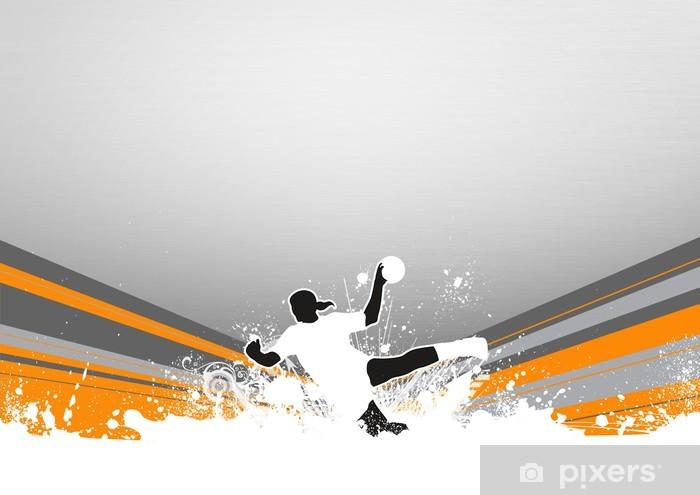 Klesskapklistremerke Håndball bakgrunn - Lagidrett