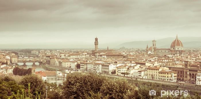 Fototapeta winylowa Firenze - panorama - Pejzaż miejski