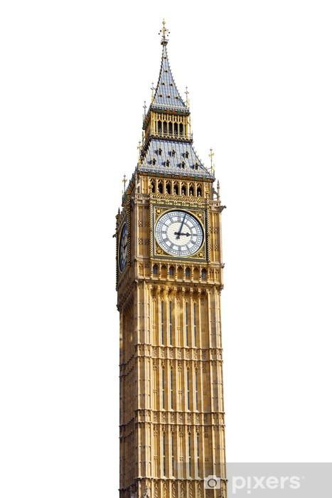 Fototapeta winylowa Big Ben samodzielnie na białym tle - Miasta europejskie