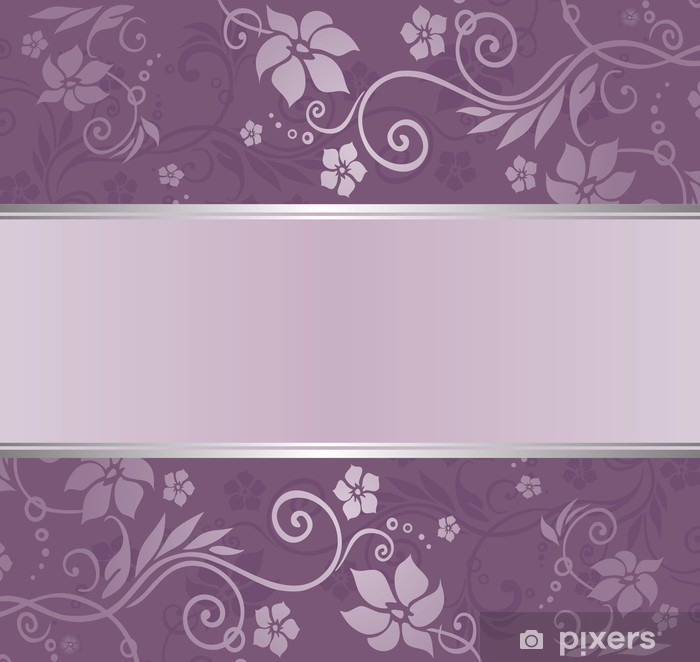 Vinylová fototapeta Fialové a stříbrné luxusní vinobraní tapety s copyspace - Vinylová fototapeta