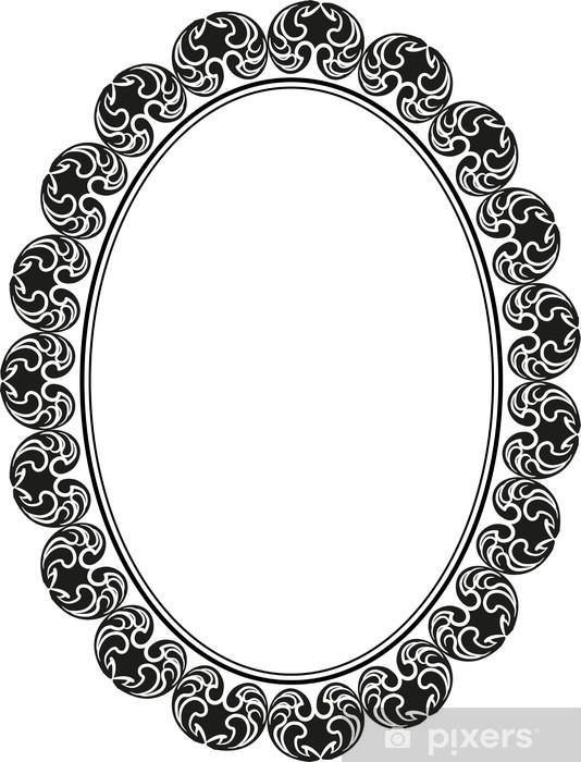 Papier peint vinyle Cadre ovale - Signes et symboles