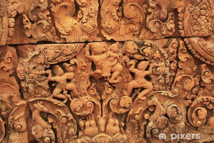 Fototapeta Winylowa Dekoracyjne Rzeźby ścienne Banteay Srey świątynia Kambodża
