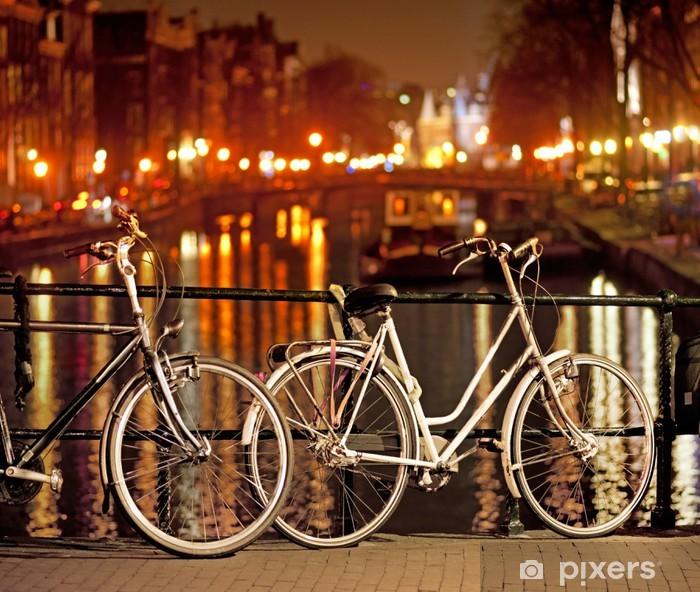 Papier peint vinyle Vélos à Amsterdam - Vélos
