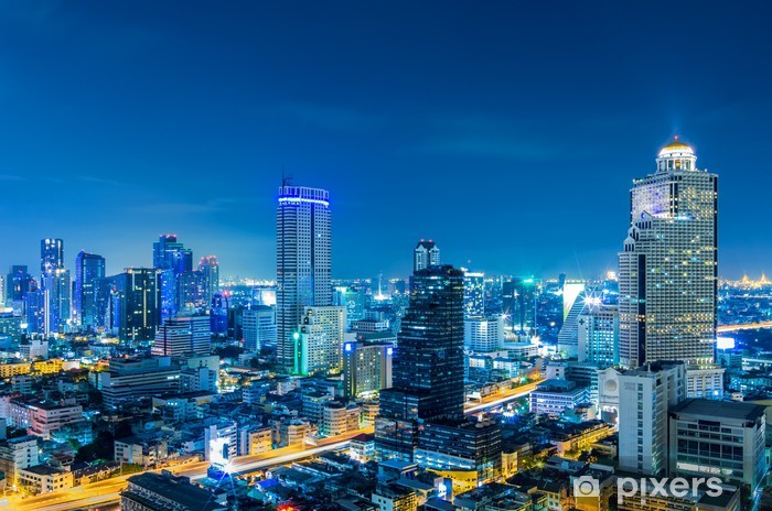 Vinyl-Fototapete Bangkok Stadtbild. - Fashion