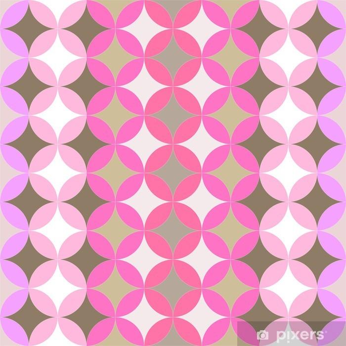 abstract geometric artistic pattern Vinyl Wall Mural - Flowers