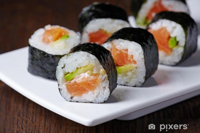 Papier peint vinyle Sushi de saumon et d'avocat - Sushi