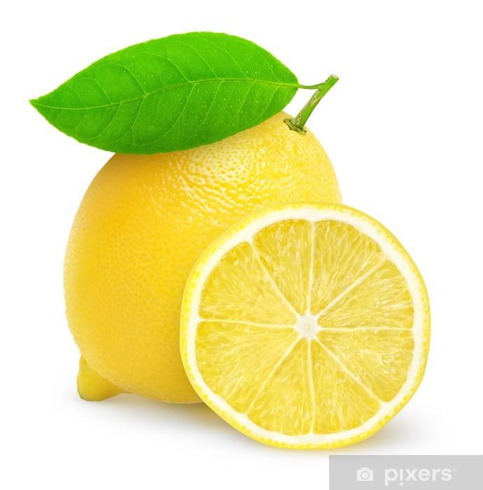 Fototapeta winylowa Świeże cytryny na białym - Owoce