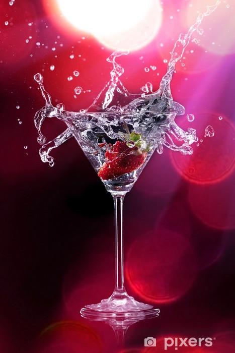 Naklejka Pixerstick Martini z zalewaniem truskawek - Tematy
