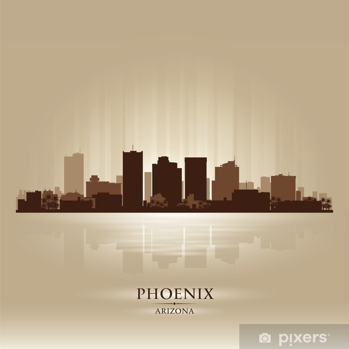 skyline city silhouette Wall Mural