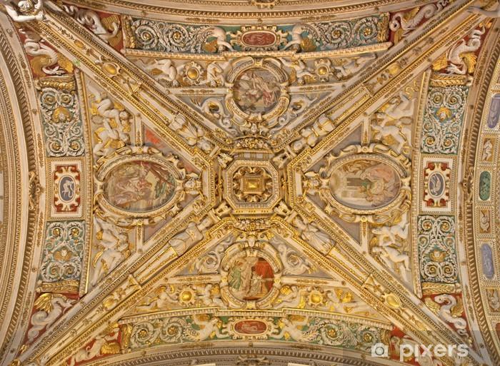 Adesivo Pixerstick Bergamo - Soffitto di dalla cattedrale di Santa Maria Maggiore - Europa