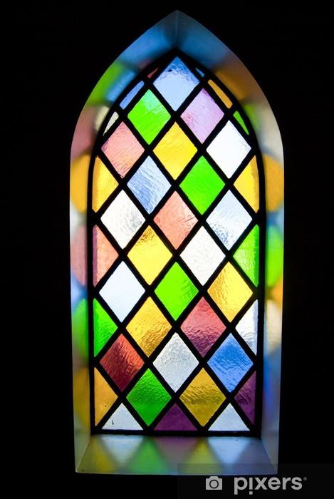 Vinilo Pixerstick Stained glass window - Texturas