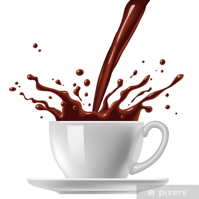 Poster Cup of chocolade - Heißgetränke