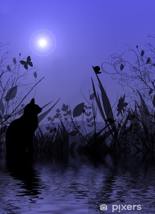 Nálepka Pixerstick Fantasyland odráží ve vodě - Jiné pocity