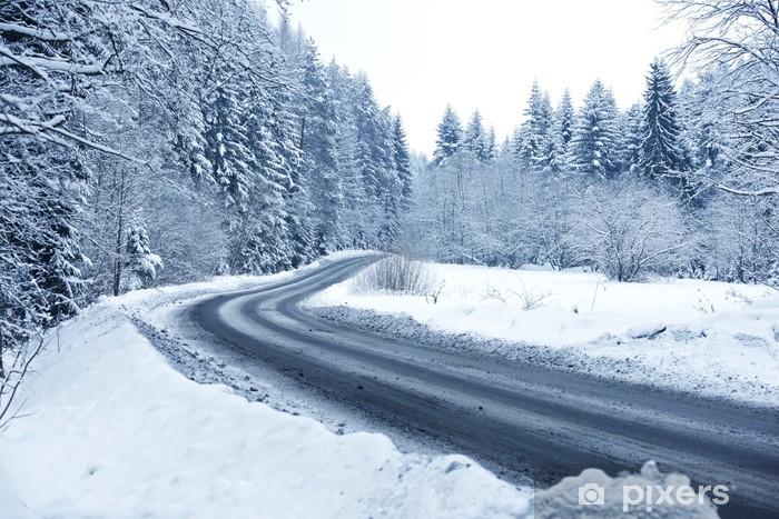 Fototapete Winter Waldweg Pixers Wir Leben Um Zu Verandern