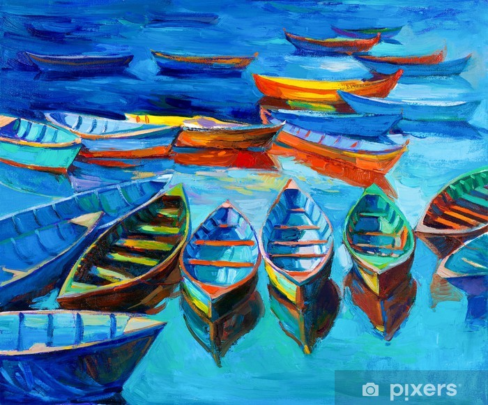 Boats Vinyl Wall Mural - iStaging
