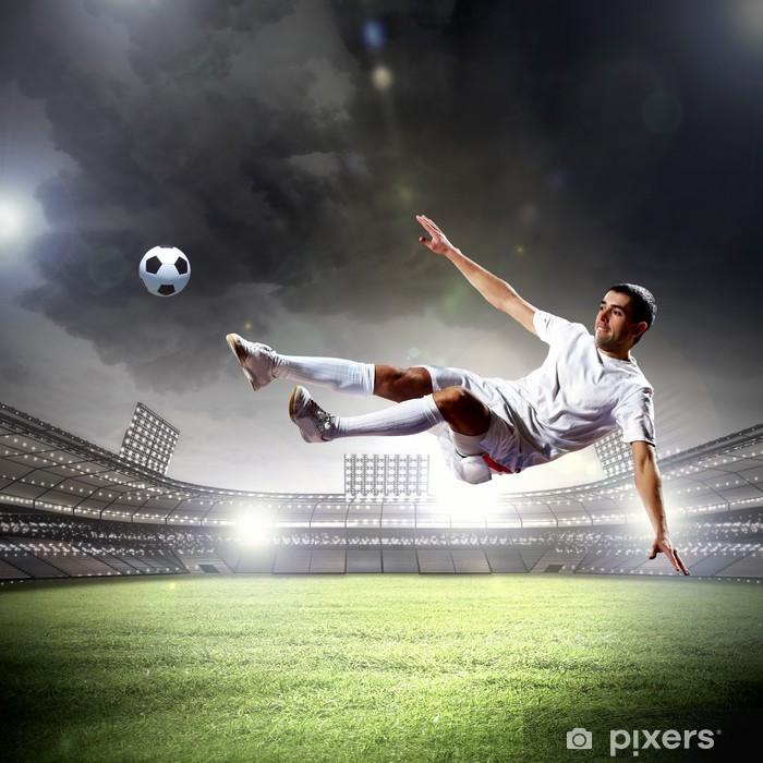 Fotomural Estándar Jugador de fútbol de golpear la pelota - Temas