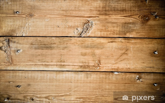 old wooden board, background Washable Wall Mural - Themes